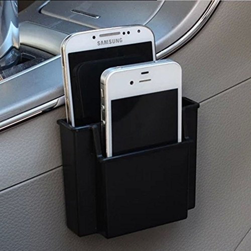 Multifunctional Car Cell Phone Holder Black Mobile Phone Charge Box Holder Pocket Organizer Car Seat Bag (How To Make A Cigarette Holder)