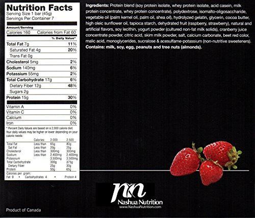 Proti-Thin - Strawberry Shortcake Protein Bar - 15g Protein - Low Carb - High Fiber Diet Bar - Gluten Free (7/Box) … …
