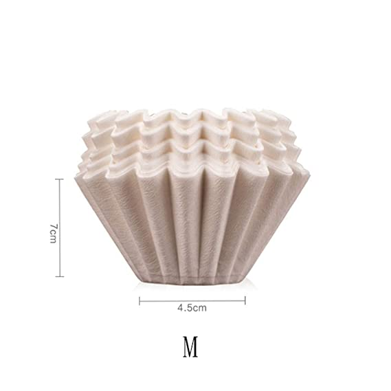Coffee Pot Filter Paper Coffee Wavy Filter Paper Cake Shaped