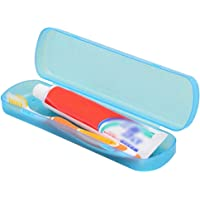 1X Travel Toothbrush Holder Case Toothpaste Case Plastic Storage Box Blue 21 * 5.5 * 3.3CM Durability and nice
