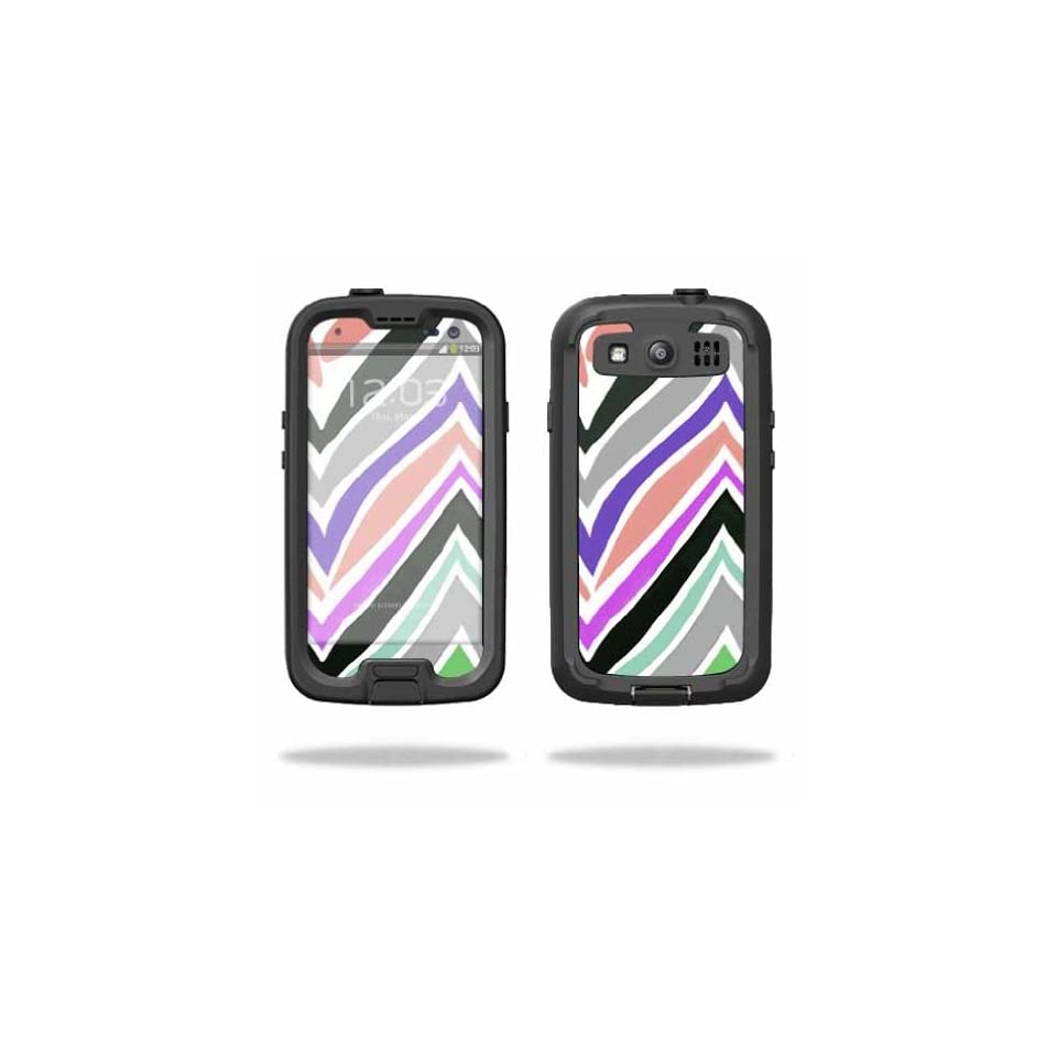 Mightyskins Protective Vinyl Skin Decal Cover for LifeProof Samsung Galaxy S III S3 Case fre wrap sticker skins Colorful Chevron