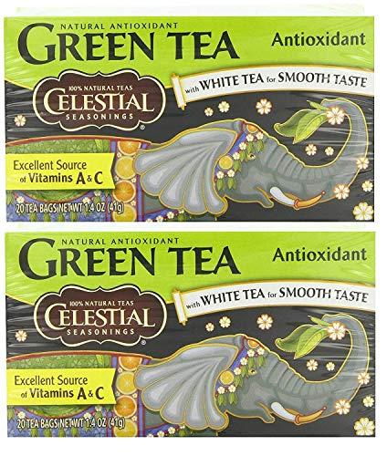 Celestial Seasonings Herbal Tea, Green Tea Antioxidant,(2 Pack) ()