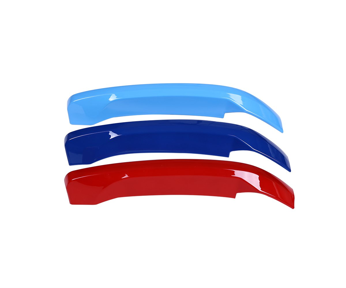 METYOUCAR ABS Front Grill Trim Decoration Sport Stripes Emblems For BMW X1 F48 2016 2017