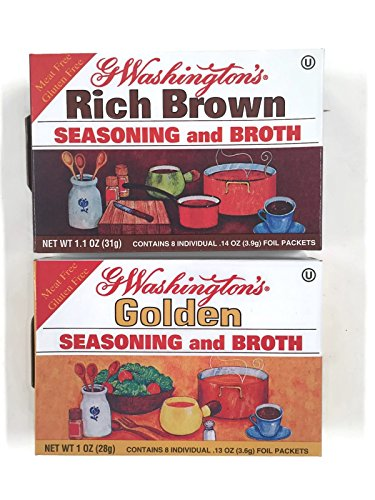 - G Washington's Seasoning and Broth, Golden & Rich Brown Variety Set [1 Box of Each]