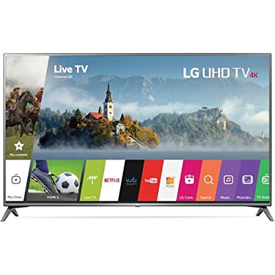 "LG Electronics 75UJ6470 75"" 4K Ultra HD Smart LED TV (2017 Model), Black"