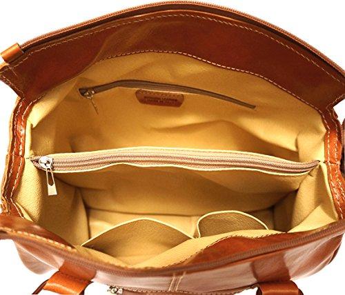 Cuoio DOPPIO 6543 CON BAULETTO MANICO BORSA HSx7P47