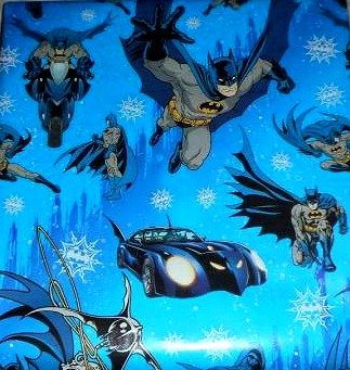 Batman Boys Christmas Holiday Gift Wrap Wrapping Paper - 20 Square Feet Each - 2 -