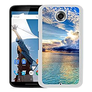 New Beautiful Custom Designed Cover Case For Google Nexus 6 With Rain Clouds Over The Sea (2) Phone Case