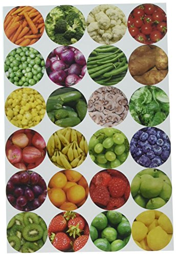 Hygloss Products Fruit & Veggie Themed Stickers 3/Pkg Circles by Hygloss (Image #1)