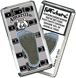 "product image for Amarillo ""FootWhere"" Souvenir Fridge Magnet. Made in USA (AMR202 - Buckle)"