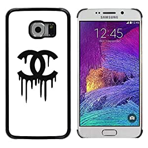 LECELL--Funda protectora / Cubierta / Piel For Samsung Galaxy S6 EDGE SM-G925 -- Clothing Black White Fashion --