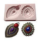 Oh! Sweet Art Mirza's Brooches, Brooch Arabian Indian Bollywwod, Cupcakes Silicone Mold By FDA Approved for Food