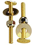 Keeney Manufacturing PP835-16BU 1/4'' x 2-1/4'' Plumb Pak Toilet Bolts, Brass