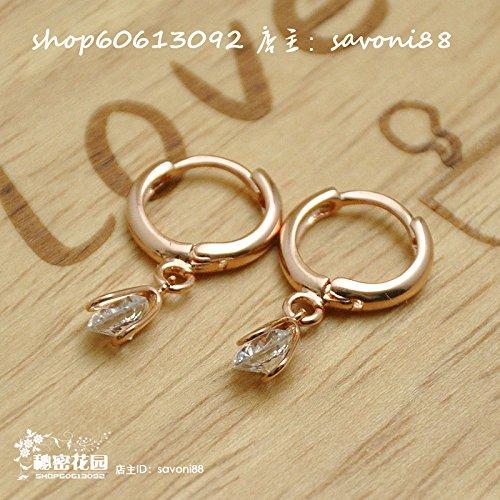 Regency Crystal authentic Korean gold diamond pendant earrings simple and stylish women earring stud earrings jewelry (Regency Jewelry)