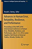 img - for Advances in Human Error, Reliability, Resilience, and Performance (Advances in Intelligent Systems and Computing) book / textbook / text book