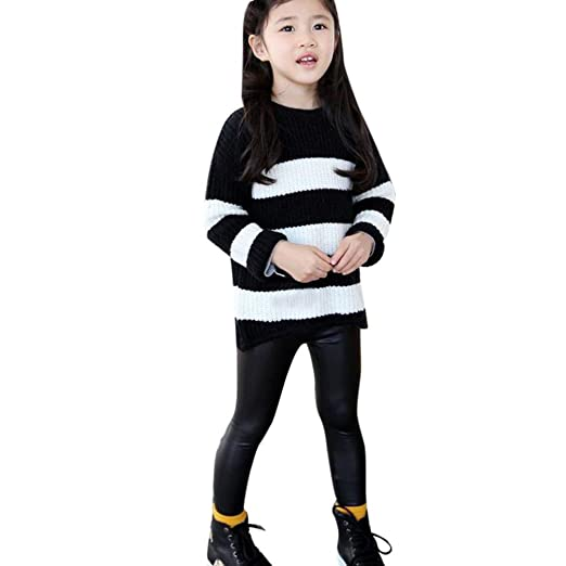 d770ba0aa Nevera 100% Brand New and Children Black Artificial PU Leather Elastic  Waist Trousers Leggings Kids