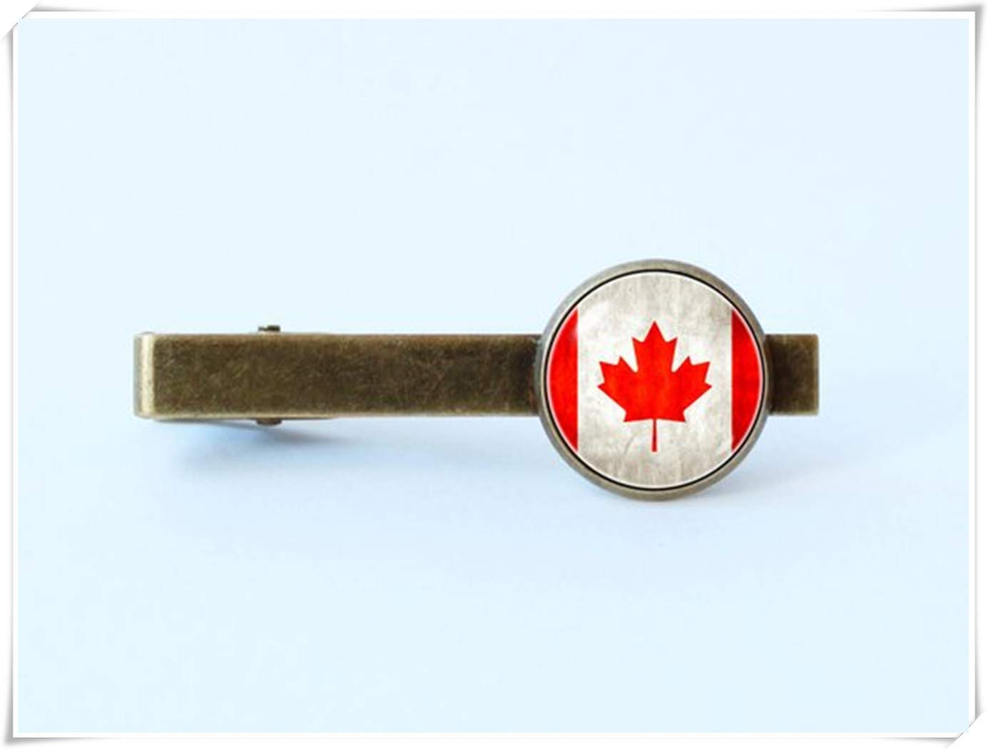we are Forever family Red Maple Leaf Canada Flag tie Clip, Husband Gift,Men Gift,Men Accessories,Canadian Flag Flag tie bar,Men Jewellery