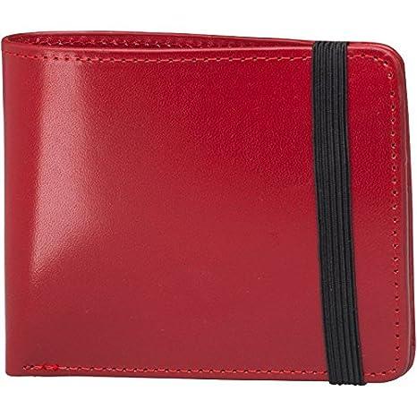 Fred Perry para hombre cartera de piel Corona de laurel BillFold Cranberry: Amazon.es: Equipaje
