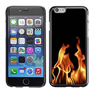 KOKO CASE / Apple Iphone 6 / infierno fuego llamas diablo ardiente wallpaper / Delgado Negro Plástico caso cubierta Shell Armor Funda Case Cover