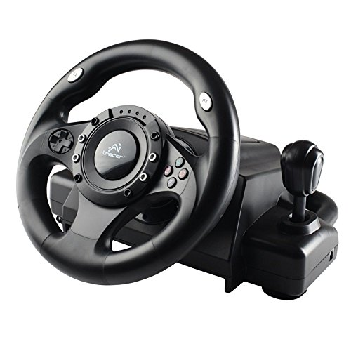 Tracer Drifter Quality Steering Wheel Force Feedback Gearbox PC PS2 PS3...