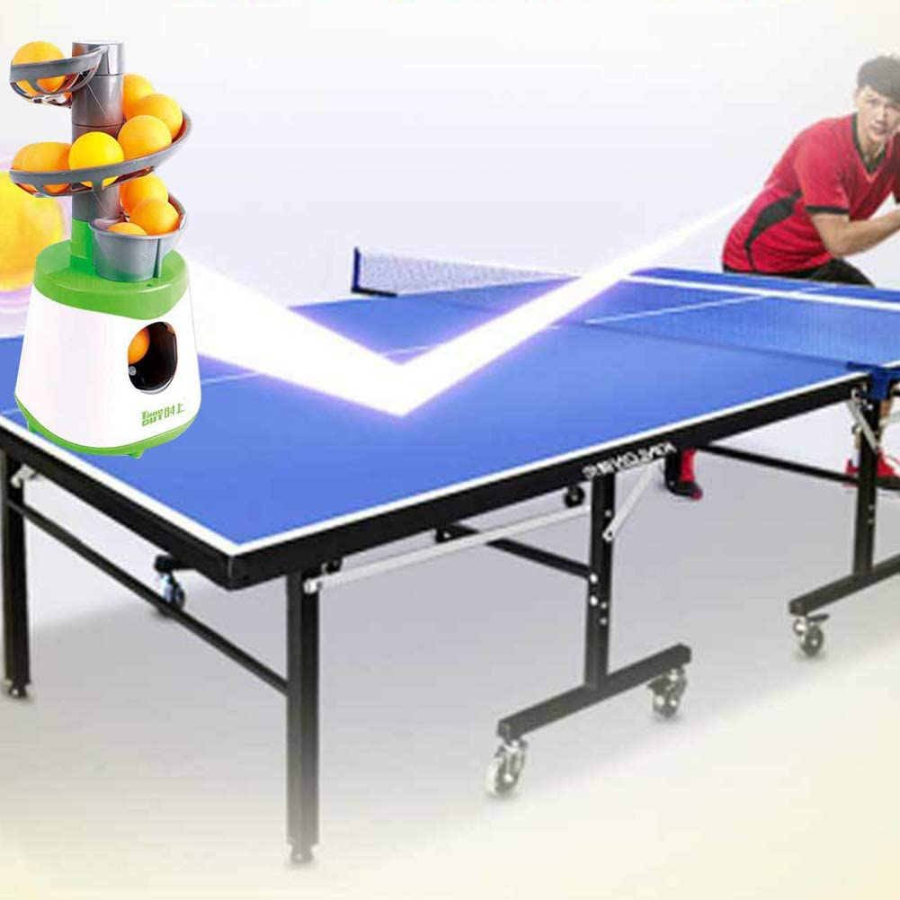 Woody541 Accessories Trainer Table Tennis Ball Machine Pong Launcher Outdoor Portable