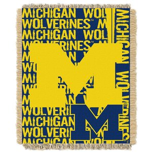 The Northwest Co Official Collegiate Michigan 'Double Play' 46 x 60-inch Triple Woven Jacquard Throw by mpany