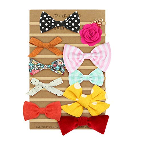 Polka Dot Nylon Headband - Baby Gifts Headbands and Bows, Turban Knotted Baby Head Wrap, headbands for Girls Newborn, Infant & Toddler, Fashion Hair Accessories Nylon Elastic Head Wraps