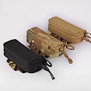Warrior Quest Anti-Shock 1050D Nylon Molle System Sunglasses Pouch - Sunglasses Bag Cases Eye Glasses Box Holder ( Semi-Hard Case )