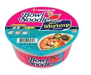 Amazon.com : Nong Shim Bowl Noodle, Spicy Shrimp, 3.03