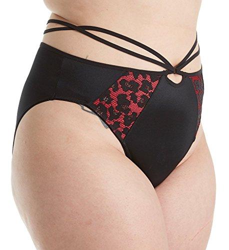 Elomi Women's Plus Size Nicole Strappy Brief, Black, XL