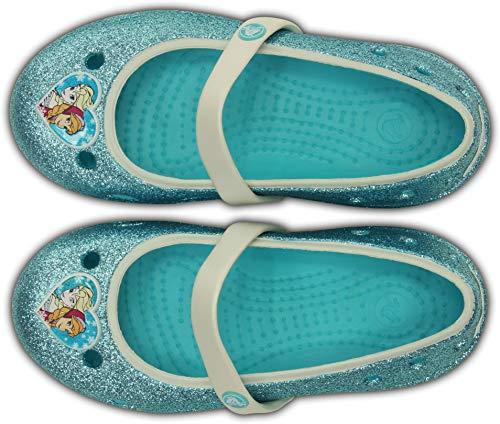 crocs Keeley Frozen Flat (Toddler/Little Kid),Pool,6 M US Toddler ()