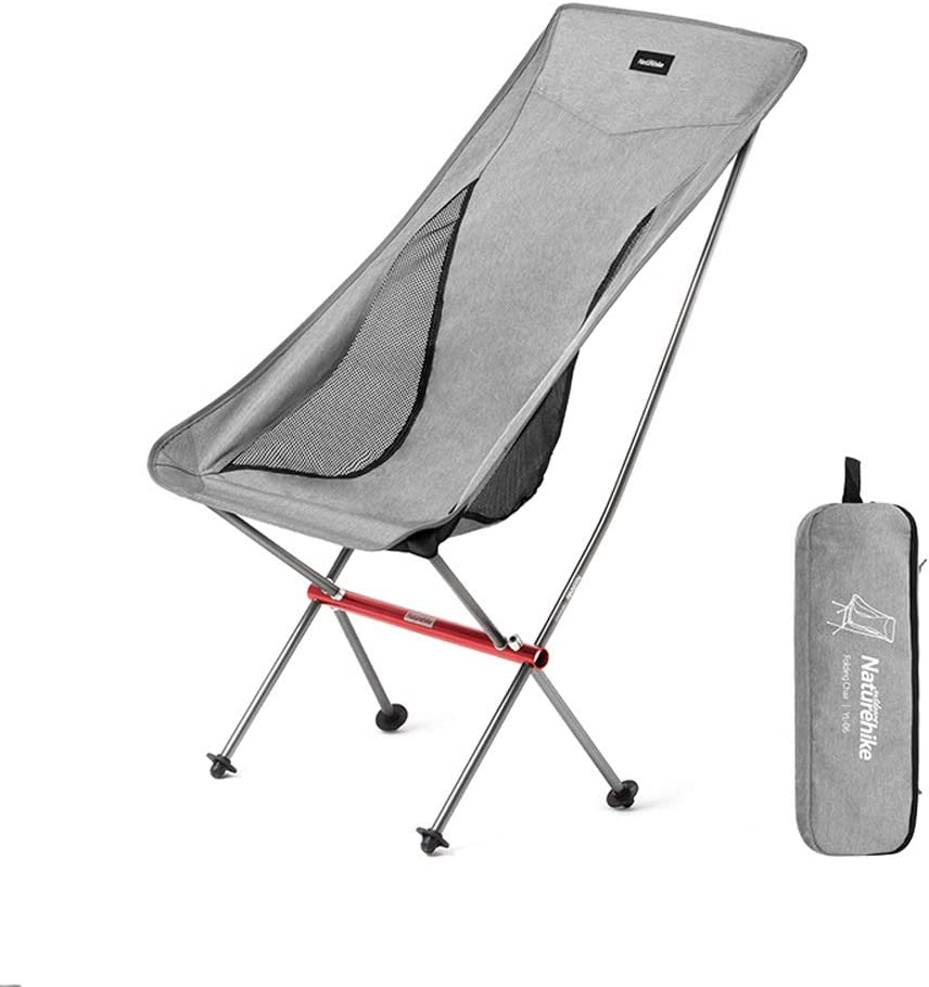 Portable Lightweight Foldable Camping Chair Outdoor Hiking Fishing Gray