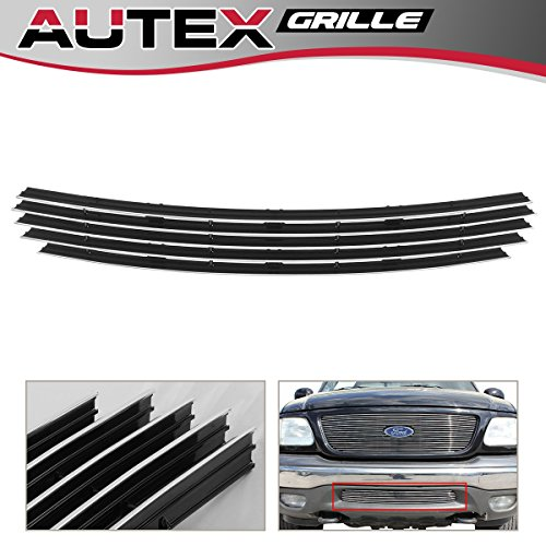 AUTEX Lower Bumper Billet Grille for 1999-2003 Ford F-150 4WD/Expedition Horizontal Billet Grill F85085A (4wd Bumper Billet Grille)