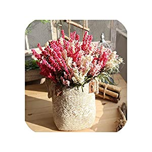 10PCS Artificial Lavender PE Silk Flower 7 Branch Simulation Wedding Fake Flower Home Garden Party Wedding Decoration Flower 21