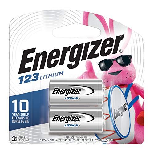 : Energizer 123 3V Lithium Battery, 2 Count