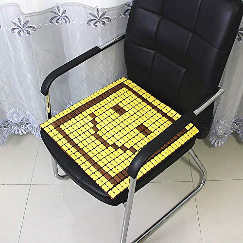 LIBINA Car Seat Cushion, Car Cushion, Summer Cushion, Carpet Cushion, Office Cushion, Breathable Seat Cushion, Bamboo Carpet,O-40 40cm ()