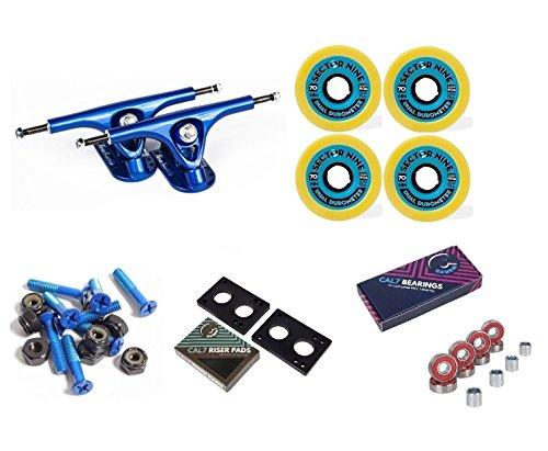 Paris 180mm V2 Longboard Blue Trucks + Sector 9 70mm Skateboard Wheels Combo