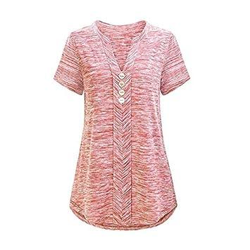Psanfeng Camisas y Camisetas Deportes Mujer Yoga Camiseta de ...