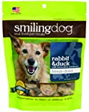 Herbsmith Smiling Dog Freeze Dried Rabbit and Duck with Broccoli and Cranberry Treats for Dogs/Cats, 2.5 oz