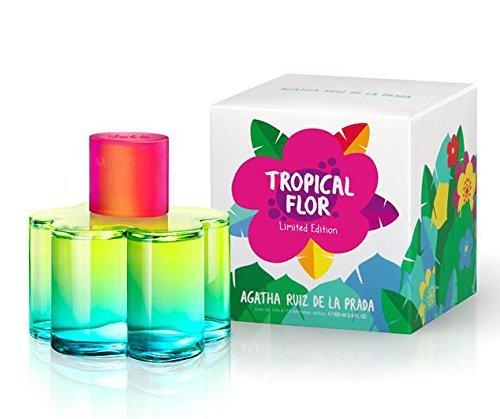 Tropical Flor By Agatha Ruiz De La Prada for Woman EAU De Toilette Spray 100ml / 3.4 Fl.oz Limited - Prada Latest