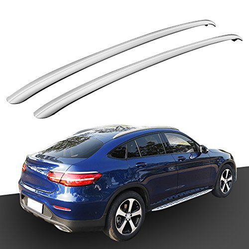 HEKA Aluminum Roof Rack Rails for Mercedes Benz GLC Coupe 2017 2018 2019 2020 Bar Luggage Baggage
