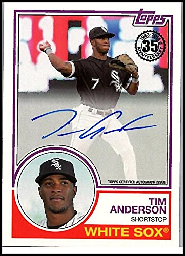 2018 Topps 1983 Topps Autographs #83A-TAN Tim Anderson Auto White Sox Baseball