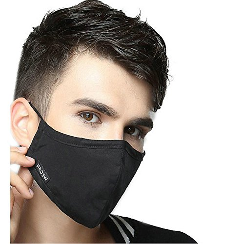 Ayygift-1-Pcs-Unisex-Solid-Color-PM25-Gauze-Mask-Activated-Carbon-Face-Mouth-Mask-Black