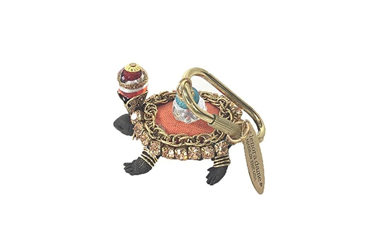 Lenora Dame Turtle Purse Charm Keychain FOB, Multi