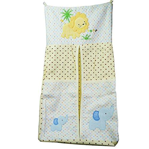 TDKIDO Diaper Stacker Organizer Hanging Storage Bag for Baby Room Decor (Monkey Diaper Stacker)