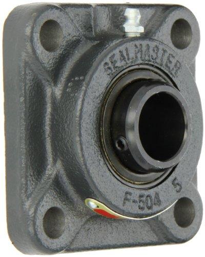 Sealmaster SF-16 Standard Duty Flange Unit, 4 Bolt, Regreasable, Felt Seals, Setscrew Locking Collar, Cast Iron Housing, 1
