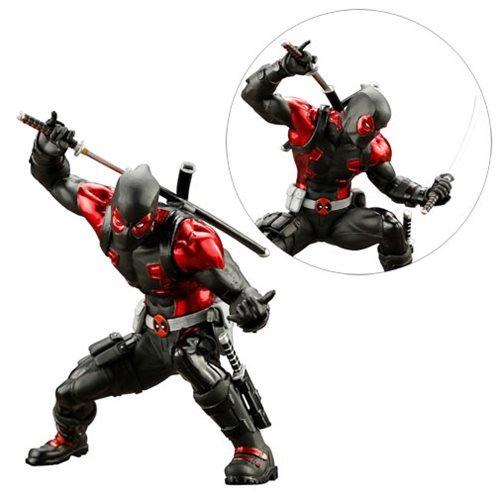 Deadpool Black Suit ArtFX+ Statue - Exclusive