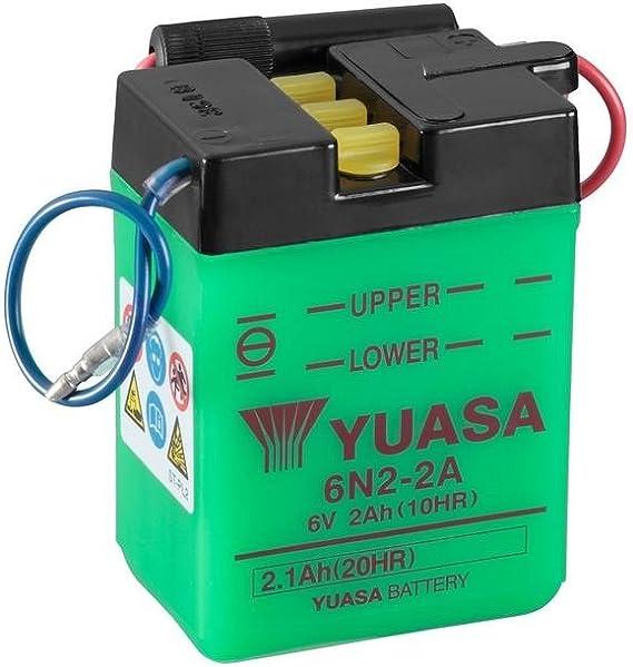 Batterie Yuasa 6n2 2a 6v 2ah Maße 70x47x96 Für Yamaha Tt350 Baujahr 1994 Auto