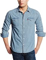 Levi's Men's Standard Barstow Denim Western, Light Stonewash, Medium