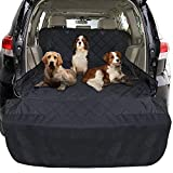 FunniPets Cargo Liner for Dogs SUV, Large Size Universal Fit, Waterproof, Non-Slip Backing, Protective Bumper Flap